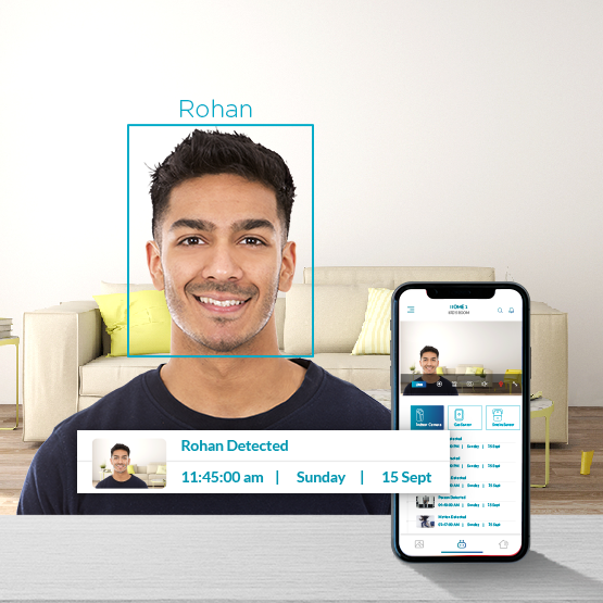 Face recognition feature in smart indoor camera
