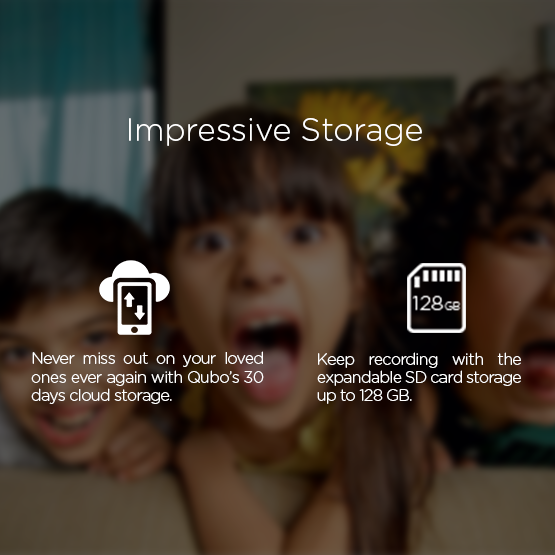 Qubo cloud storage with SD card support